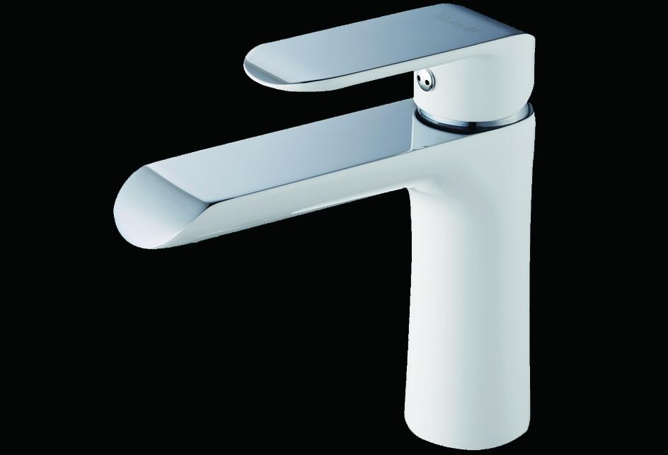lux aqua design waschtischarmatur verchromt mit einbrennlack in wei wdg16431jw. Black Bedroom Furniture Sets. Home Design Ideas