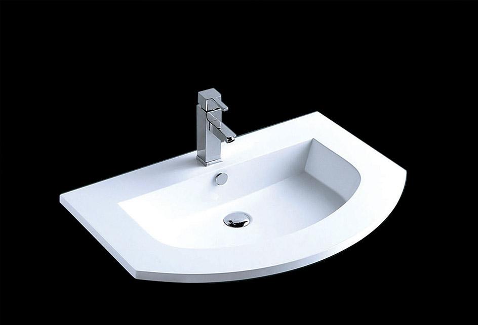 lux aqua waschtisch waschbecken einbauwaschbecken guss marmor sq101053 ebay. Black Bedroom Furniture Sets. Home Design Ideas