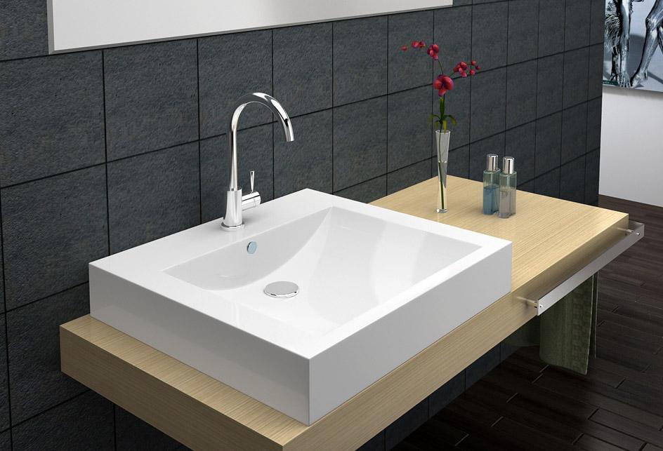 lux aqua waschtisch gussmarmor waschbecken wandmontage sq101062 ebay. Black Bedroom Furniture Sets. Home Design Ideas