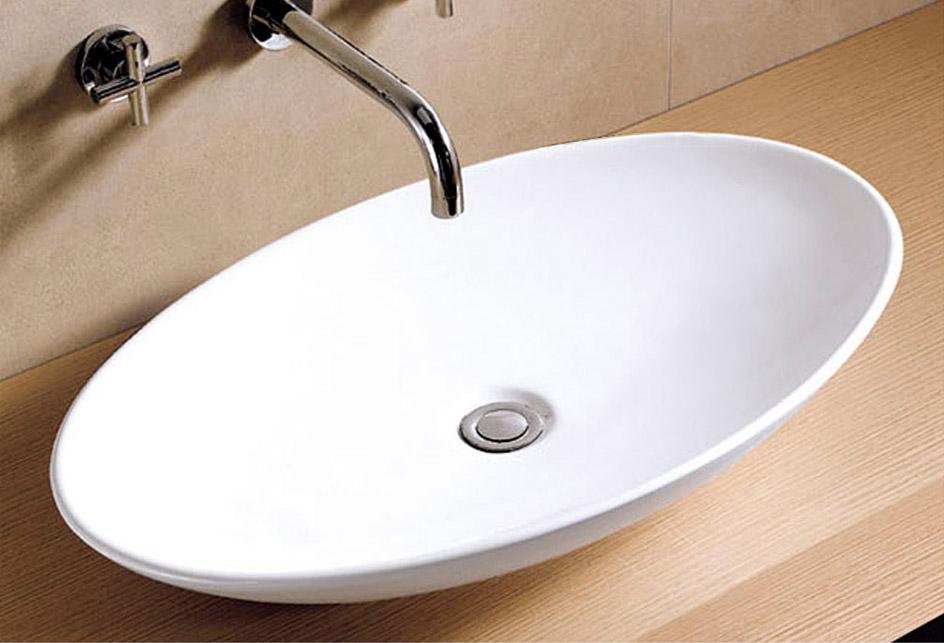 lux aqua badm bel waschtisch keramik waschbecken 40148 ebay. Black Bedroom Furniture Sets. Home Design Ideas
