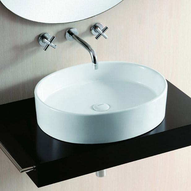 lux aqua design waschtisch waschbecken keramik aufsatzbecken oval 4035 ebay. Black Bedroom Furniture Sets. Home Design Ideas