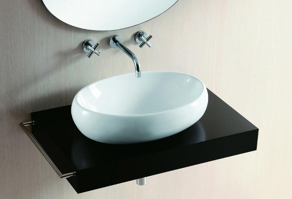 lux aqua design waschtisch waschbecken keramik aufsatzbecken oval 428 ebay. Black Bedroom Furniture Sets. Home Design Ideas