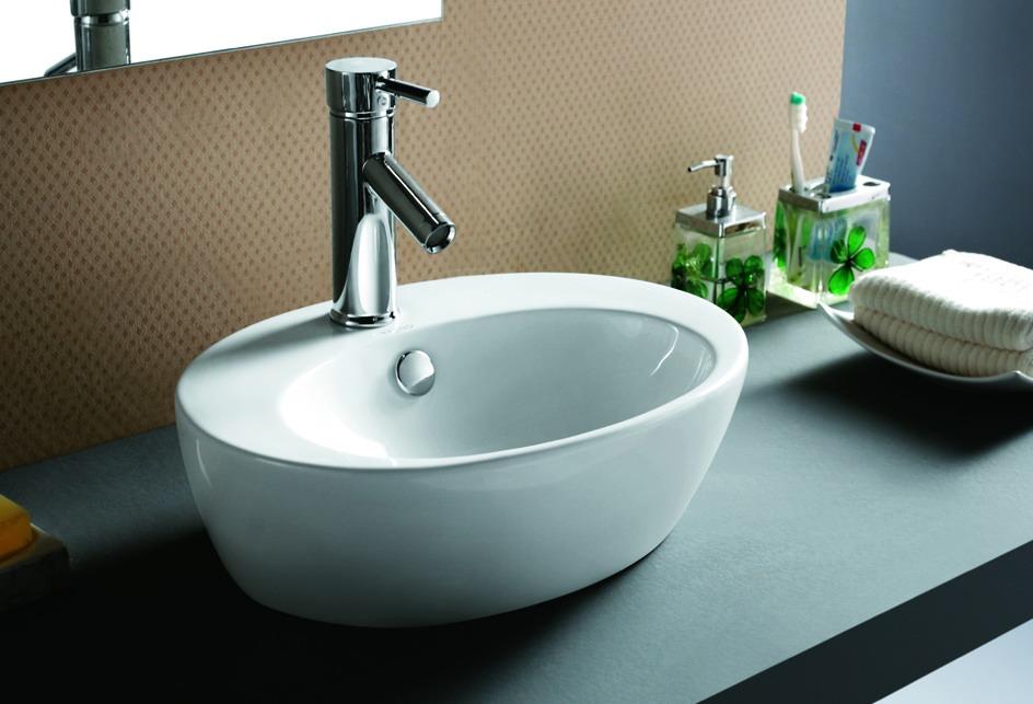 lux aqua badm bel waschtisch keramik waschbecken aufsatzwaschbecken 4298. Black Bedroom Furniture Sets. Home Design Ideas