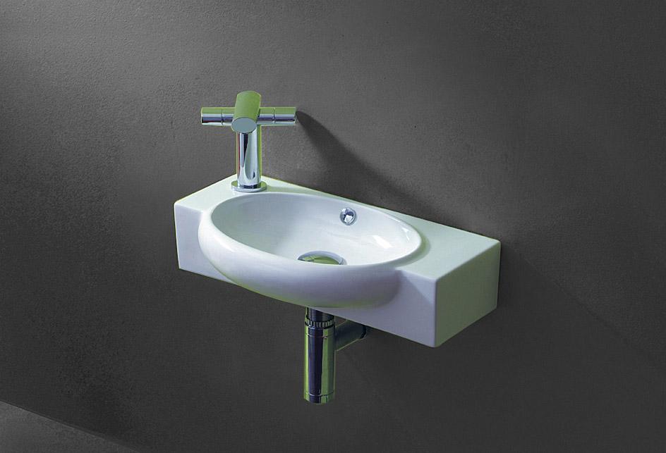 lux aqua g ste wc waschbecken zur wandmontage 4522t. Black Bedroom Furniture Sets. Home Design Ideas