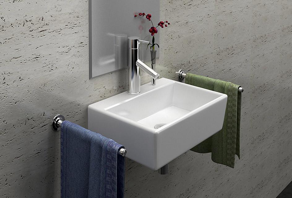 details zu lux aqua waschbecken g ste wc waschbecken zur wandmontage. Black Bedroom Furniture Sets. Home Design Ideas