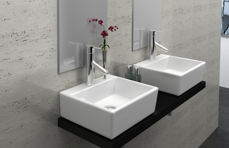 luxaqua waschbecken g ste wc waschbecken zur wandmontage. Black Bedroom Furniture Sets. Home Design Ideas