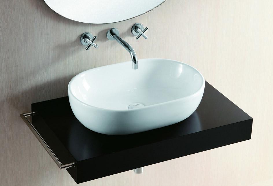 lux aqua design waschtisch waschbecken keramik aufsatzbecken oval 4916 ebay. Black Bedroom Furniture Sets. Home Design Ideas