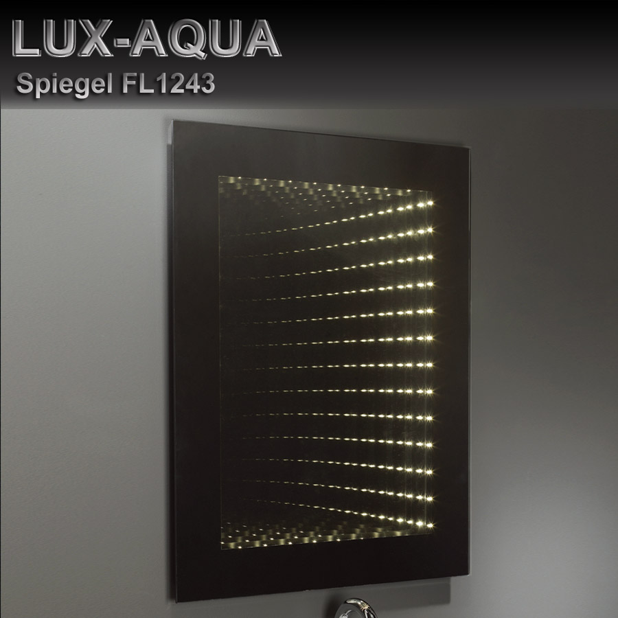lux aqua design wand spiegel badezimmerspiegel inkl led. Black Bedroom Furniture Sets. Home Design Ideas