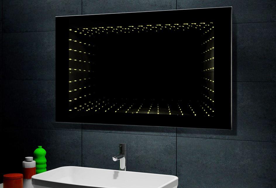 Design spiegel badezimmerspiegel inkl 3000k led - Badezimmerspiegel modern ...