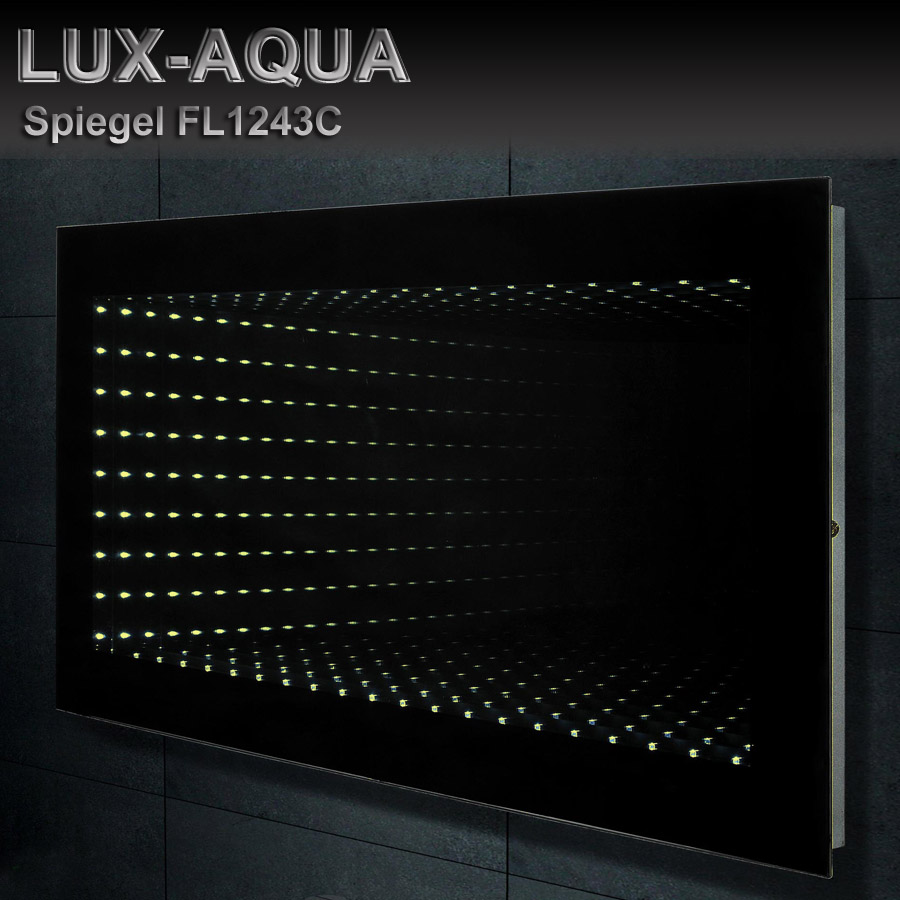lux aqua design wand spiegel badezimmerspiegel mit led. Black Bedroom Furniture Sets. Home Design Ideas