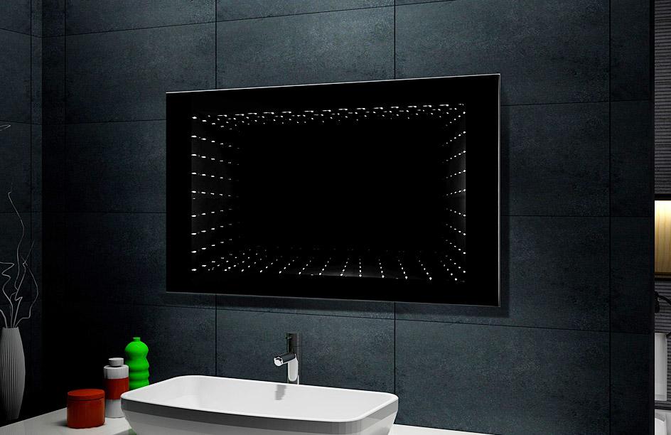 Lux aqua design spiegel beschichtet 3d effekt led 6400k for Spiegel 3d effekt