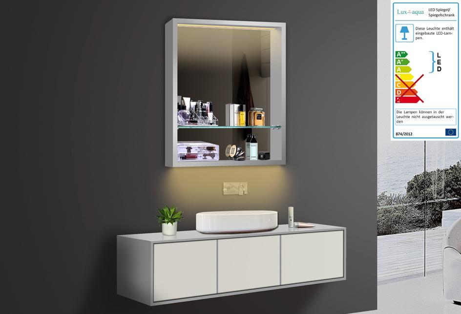 design badezimmer spiegel spiegelschr nke spiegelregal led beleuchtung lkj60x75. Black Bedroom Furniture Sets. Home Design Ideas