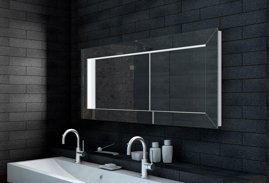 Wandspiegel badspiegel mit 3d effekt badezimmerspiegel for Wandspiegel rahmenlos