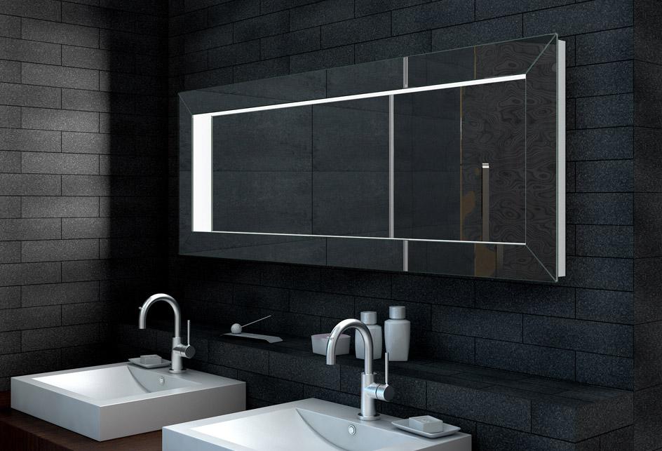 wandspiegel badspiegel badezimmerspiegel flur mit 3d effekt 160x60cm lma160x60 ebay. Black Bedroom Furniture Sets. Home Design Ideas