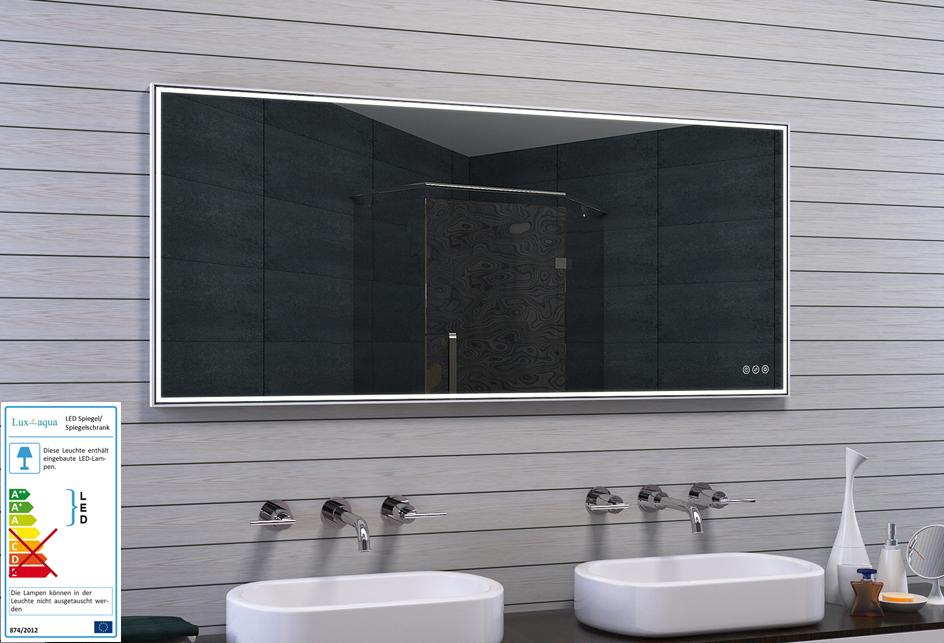Lux aqua design badspiegel mit rahmen for Spiegel einstellen
