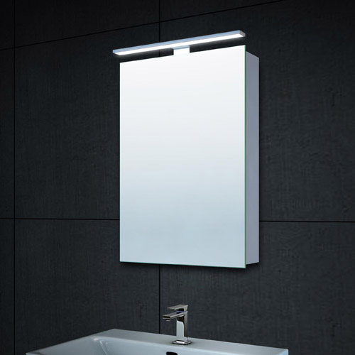 Lux aqua Design Alu LED Beleuchtung Spiegelschrank Gäste WC