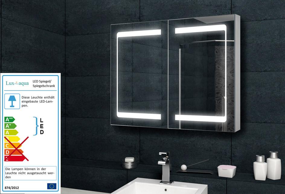 badezimmer spiegelschrank bad led beleuchtung mit kosmetikspiegel 100cm mda7513 ebay. Black Bedroom Furniture Sets. Home Design Ideas
