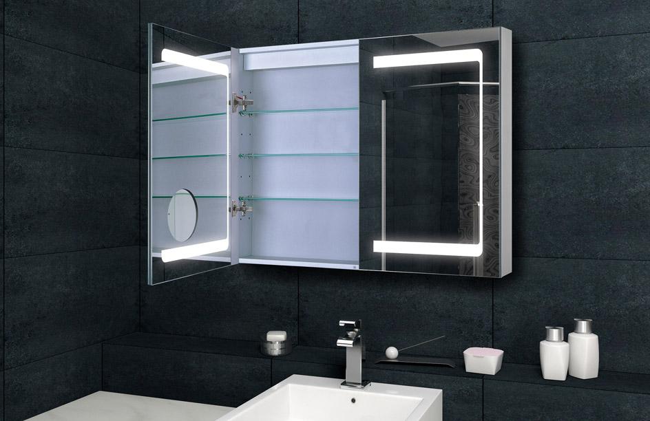 Spiegelschrank Bad Beleuchtung Wechseln : badezimmer spiegelschrank bad led beleuchtung mit kosmetikspiegel 100cm mda7513 ebay ~ Yuntae.com Dekorationen Ideen