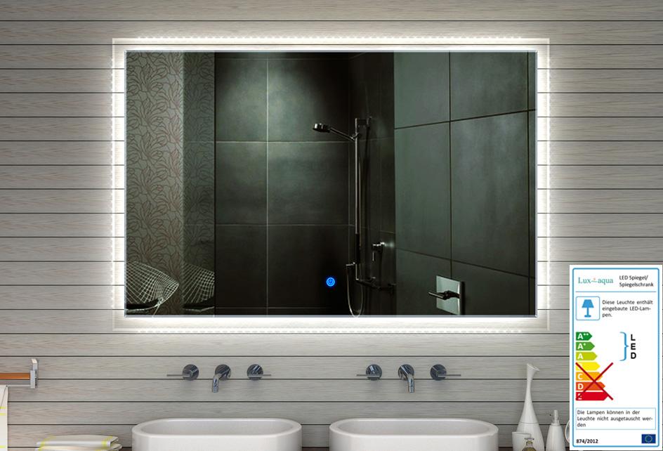 design badezimmerspiegel badspiegel spiegel led beleuchtung 180x120 xxxl mf91180 ebay. Black Bedroom Furniture Sets. Home Design Ideas