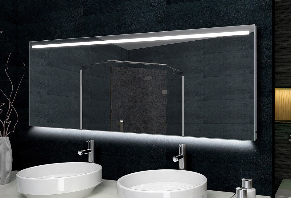 Lux aqua design badezimmerspiegel alu rahmen led - Lux aqua spiegel ...