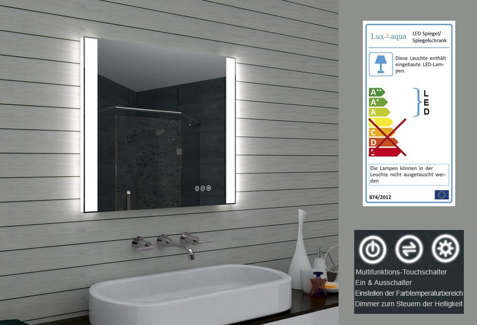 Badezimmerspiegel badspiegel led for Spiegel einstellen