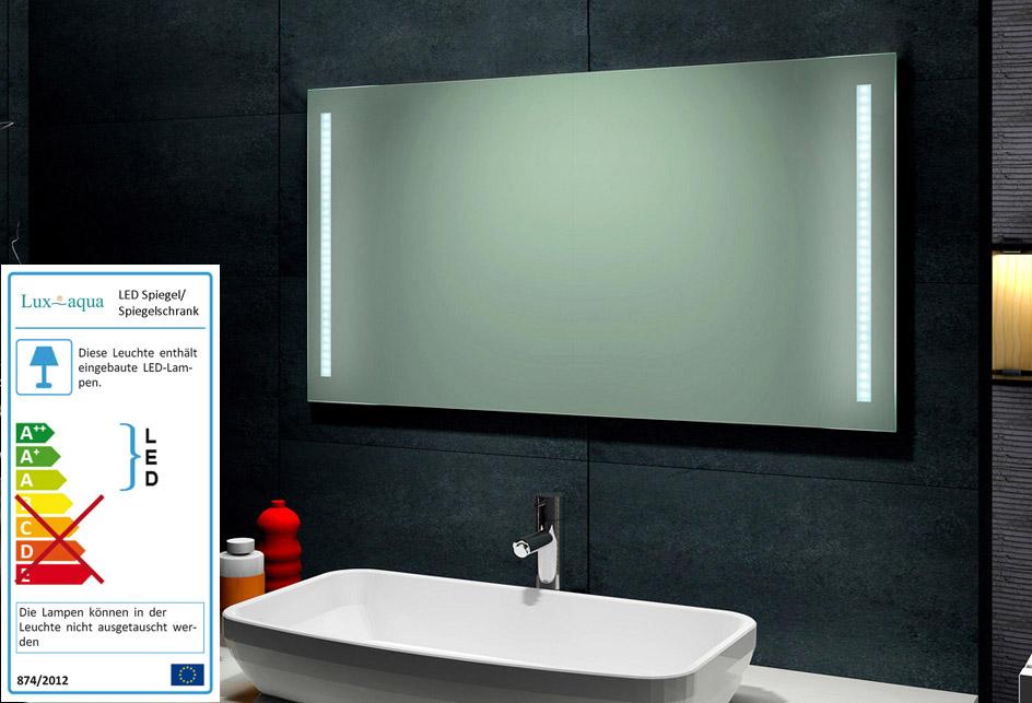 Spiegel bad beleuchtet 120 spiegel badspiegel wandspiegel for Spiegel your name