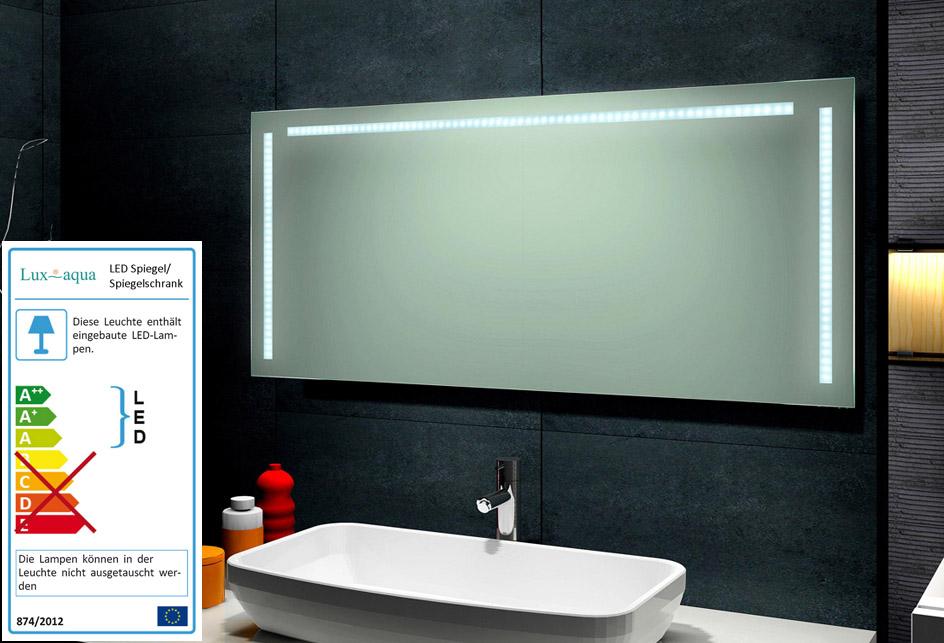 lux aqua design lichtspiegel led beleuchtung spiegel neu 60x140cm mt60 140 ebay. Black Bedroom Furniture Sets. Home Design Ideas
