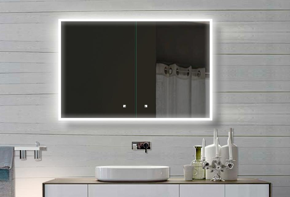 alu badschrank badezimmer spiegelschrank bad led beleuchtung 100x70cm sac100h70 ebay. Black Bedroom Furniture Sets. Home Design Ideas