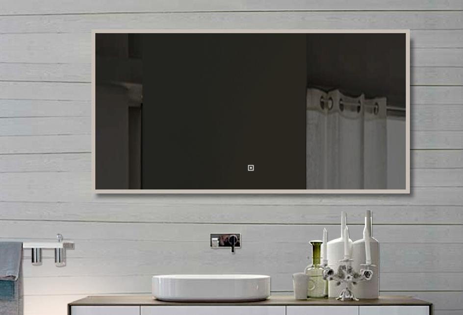 lux aqua badzimmerspiegel led mit beleuchtung touch schalter 140x60cm sam140x60 ebay. Black Bedroom Furniture Sets. Home Design Ideas