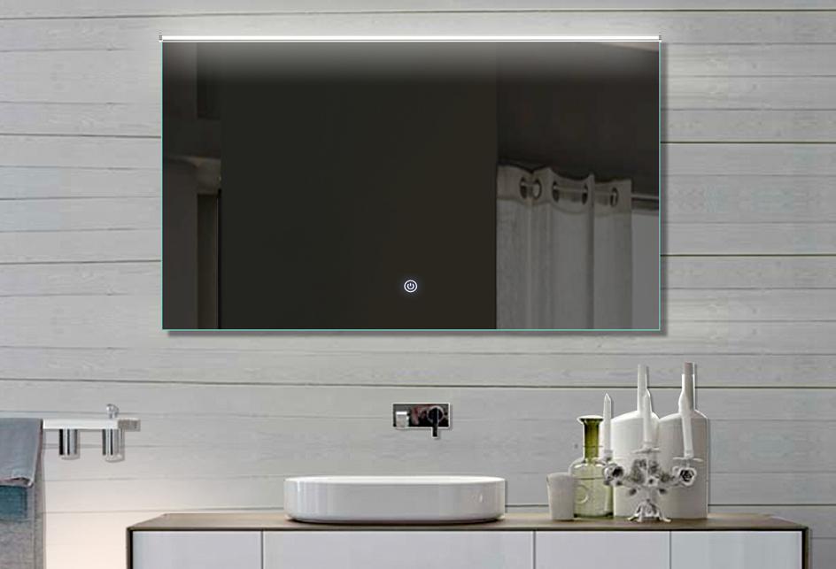 Badspiege badezimmerspiegel lichtfarbton kalt warm for Wandspiegel rahmenlos