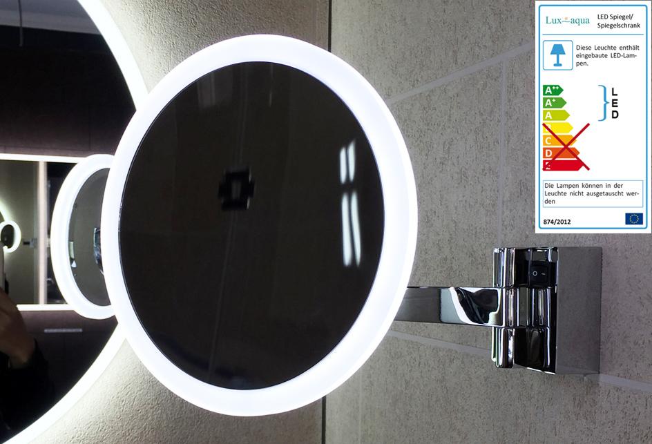 kosmetikspiegel schminkspiegel mit led beleuchtung vergr erung 5 fach tn01005a ebay. Black Bedroom Furniture Sets. Home Design Ideas