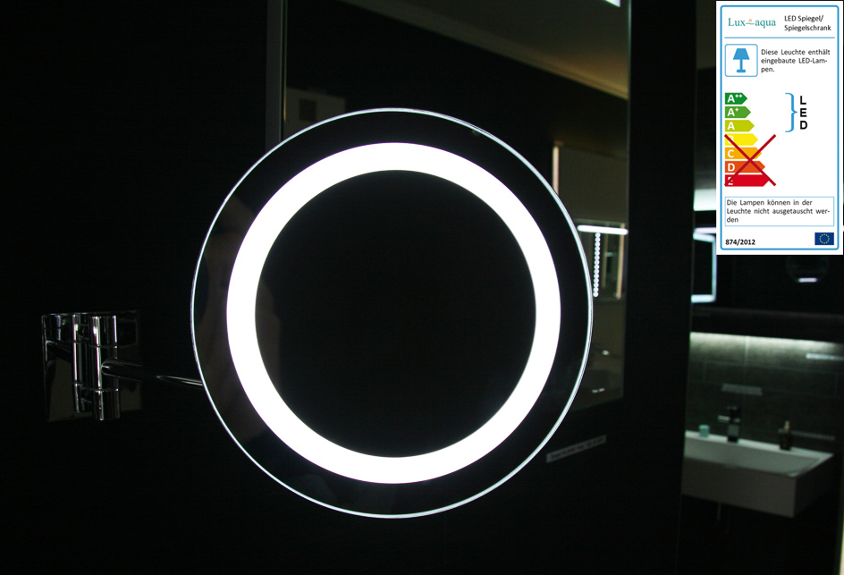 led beleuchteter kosmetikspiegel schminkspiegel vergr erung 3 fach tn02005a ebay. Black Bedroom Furniture Sets. Home Design Ideas