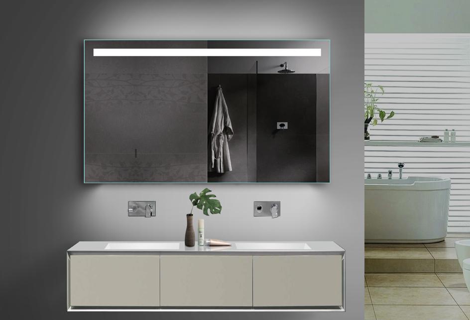 design badezimmerspiegel led beleuchtung in warm kaltwei mit steckdose tsl120 70. Black Bedroom Furniture Sets. Home Design Ideas