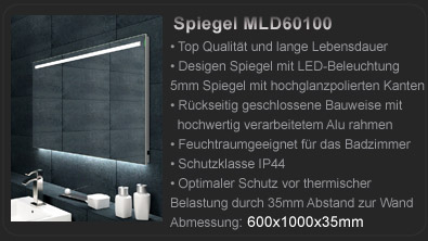 badspiegel led beleuchtung uhr radio mp3 und touch schalter hamburg. Black Bedroom Furniture Sets. Home Design Ideas
