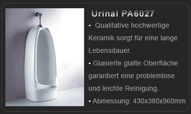 lux auqa hochwertiges design stand urinal tr6014 ebay. Black Bedroom Furniture Sets. Home Design Ideas