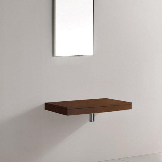 lux aqua holz waschtischplatte waschtischkonsole 0750dt ebay. Black Bedroom Furniture Sets. Home Design Ideas