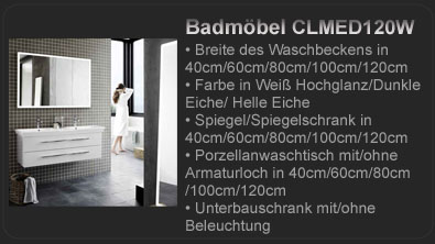 dansani exklusiv badm bel calidris mit spiegelschrank waschtisch clmed100he ebay. Black Bedroom Furniture Sets. Home Design Ideas
