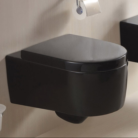 lux aqua designer h nge wc keramik schwarz mit wc sitz soft close ct2044a 18 ebay. Black Bedroom Furniture Sets. Home Design Ideas