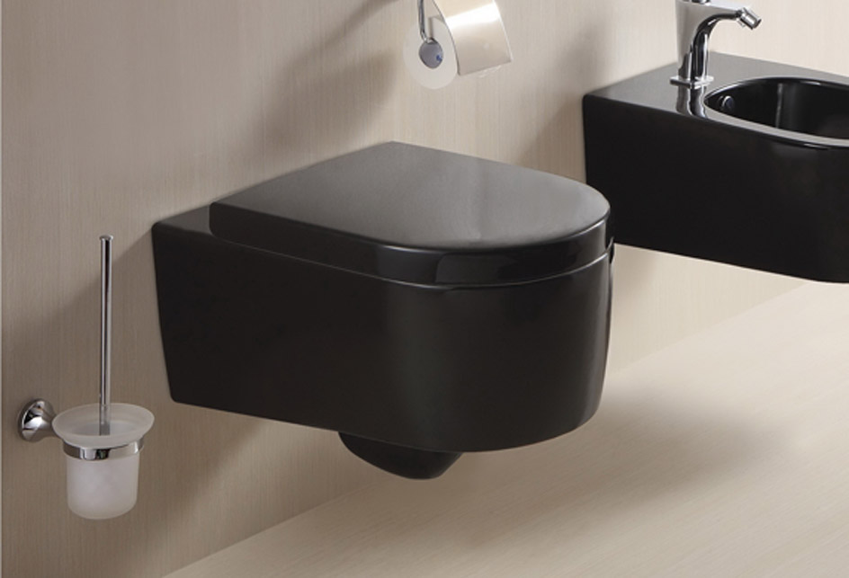 lux aqua designer h nge wc keramik schwarz mit wc sitz. Black Bedroom Furniture Sets. Home Design Ideas