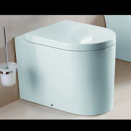 lux aqua desig stand wc toilette mit soft close deckel sanit r duroplast 2044b ebay. Black Bedroom Furniture Sets. Home Design Ideas