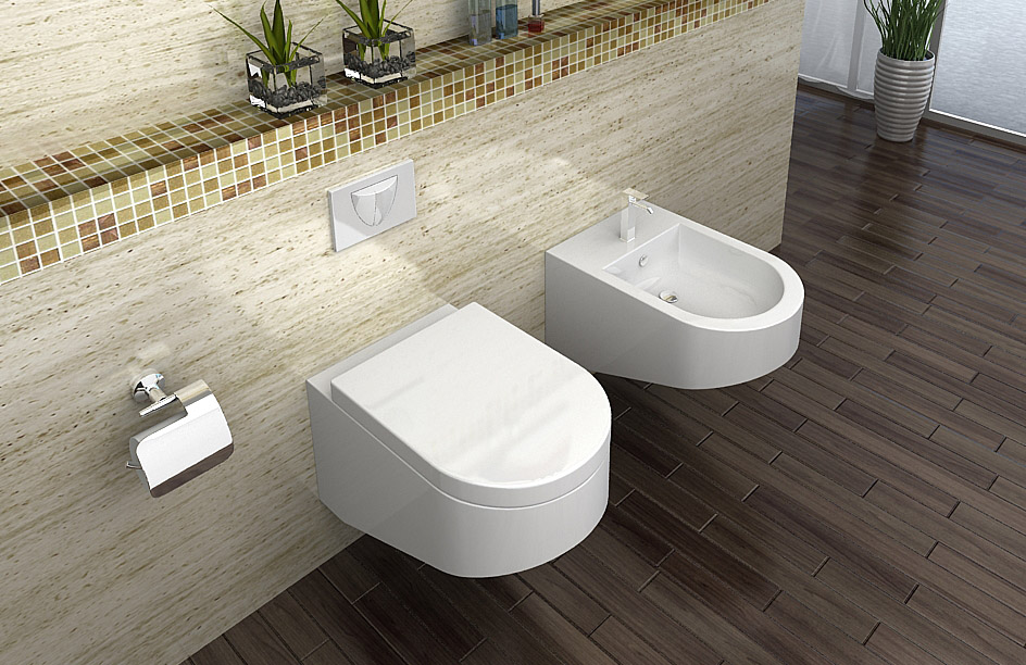 design wandh ngende wc toilette mit wc sitz soft close duroplast 2045 ebay. Black Bedroom Furniture Sets. Home Design Ideas