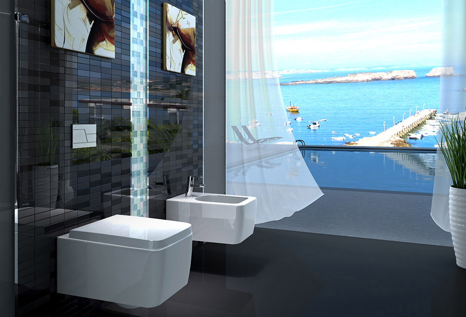 lux aqua design wand h ngende wc toilette mit softclose. Black Bedroom Furniture Sets. Home Design Ideas