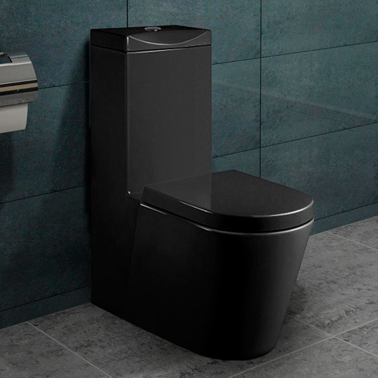 lux aqua stand wc mit nano beschichtu ng softclose schwarz. Black Bedroom Furniture Sets. Home Design Ideas