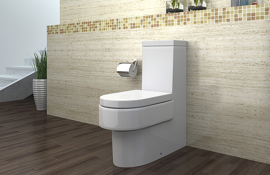 lux aqua stand wc toilette mit nano beschichtu ng soft close a391 ebay. Black Bedroom Furniture Sets. Home Design Ideas