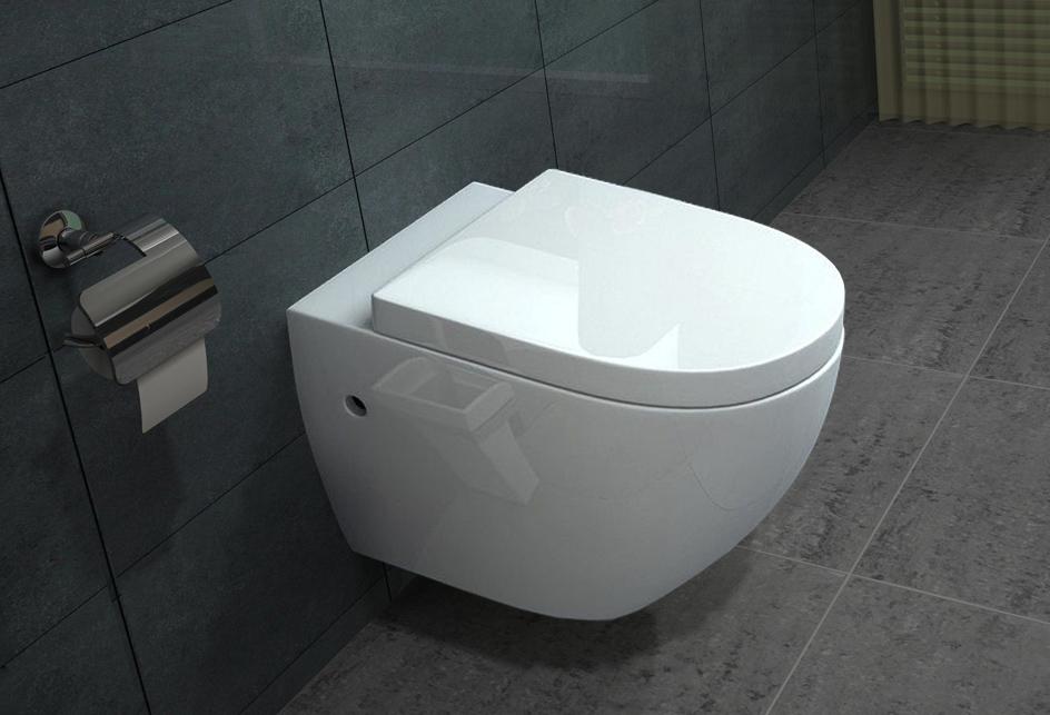 lux aqua wandh ngende wc inkl nano beschichtung b2376 ebay. Black Bedroom Furniture Sets. Home Design Ideas