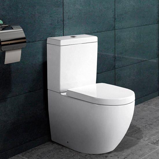 bodenstehend wc mit nano beschichtu ng softclose b2376a ebay. Black Bedroom Furniture Sets. Home Design Ideas