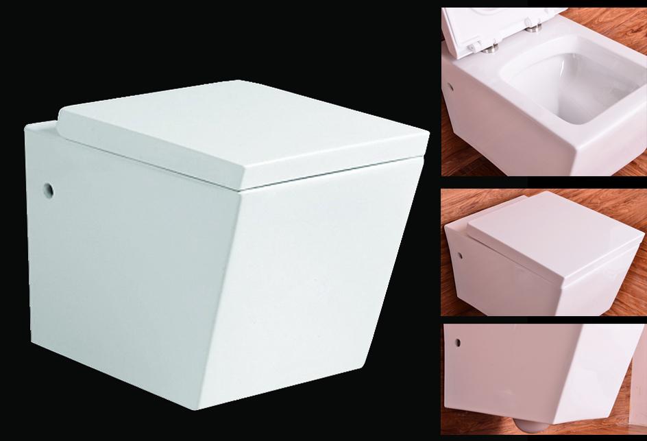 neu toilette wand h nge wc eckig inkl nano beschichtung soft close deckel b2389 ebay. Black Bedroom Furniture Sets. Home Design Ideas