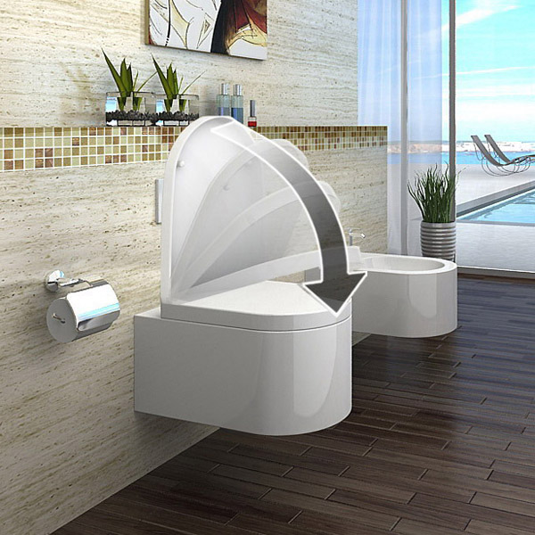 lux aqua design luxus wand h ngende wc toilette inkl wc sitz soft close ct2044a ebay. Black Bedroom Furniture Sets. Home Design Ideas