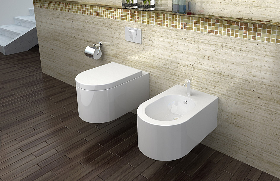 lux aqua luxus wand h nge wc toilette inkl wc sitz soft close ct2044a. Black Bedroom Furniture Sets. Home Design Ideas