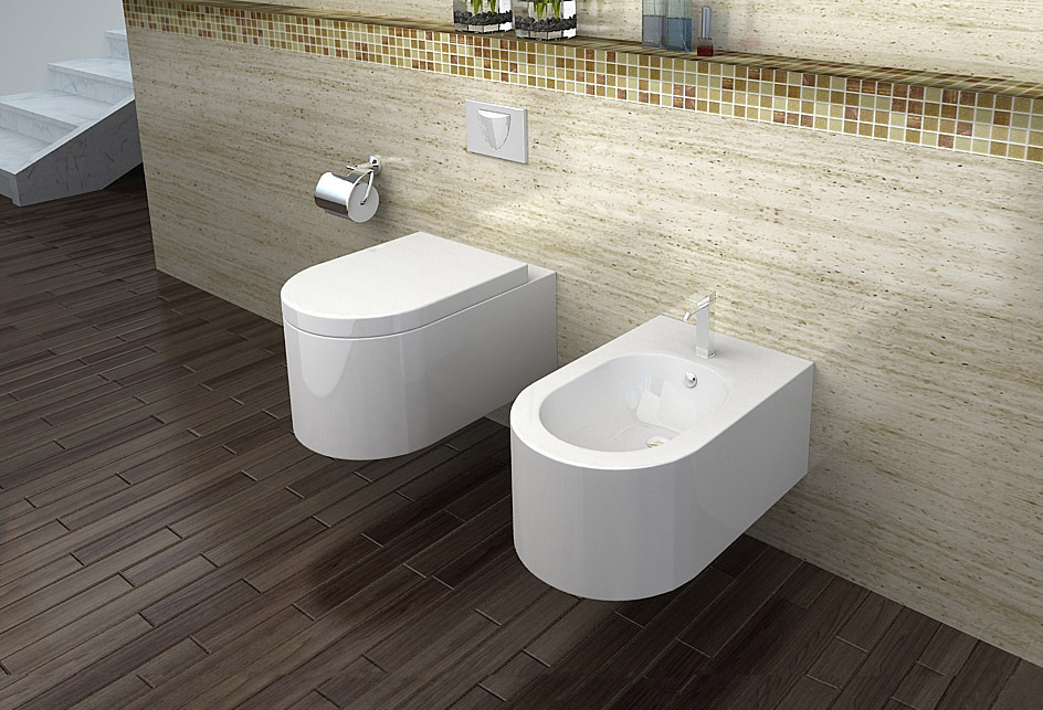 lux aqua wandh ngend bidet mit nano beschichtung ct5019a n. Black Bedroom Furniture Sets. Home Design Ideas